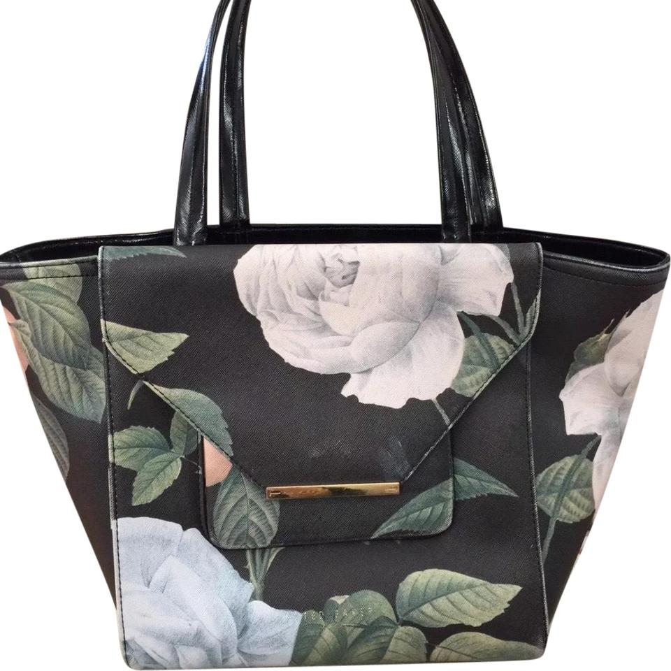 96004511f31 Ted Baker Large Floral Print Front Flap Pocket Black/Multi Leather ...