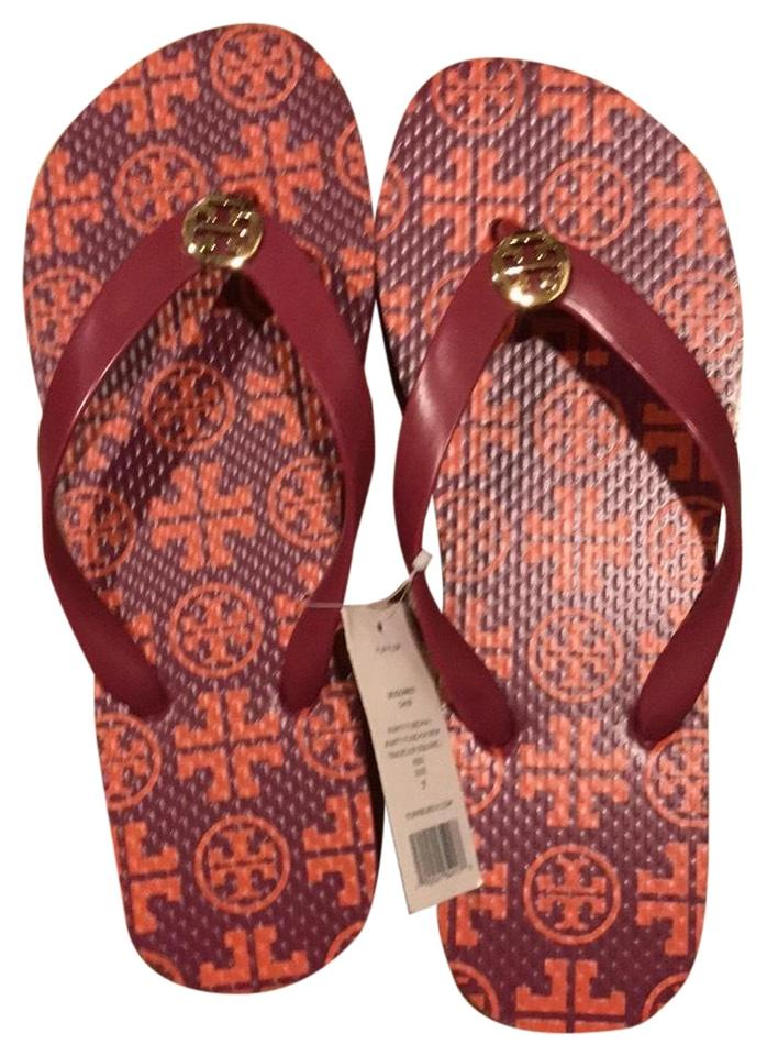 76f737eaa47c43 Tory Burch Fuschia Party New Traveler Square Sandals Size US 7 ...