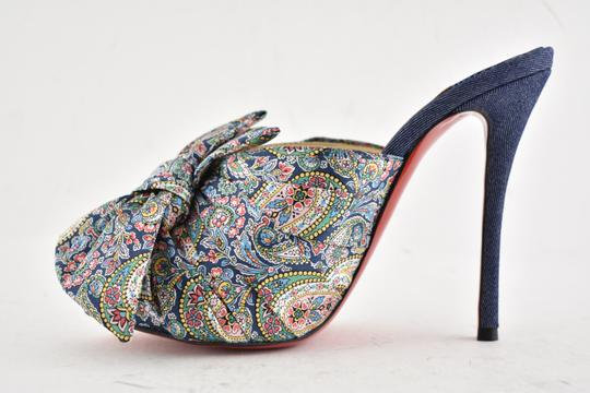 Christian Louboutin Stiletto Classic Peep Toe Platform Moniquissima blue Pumps