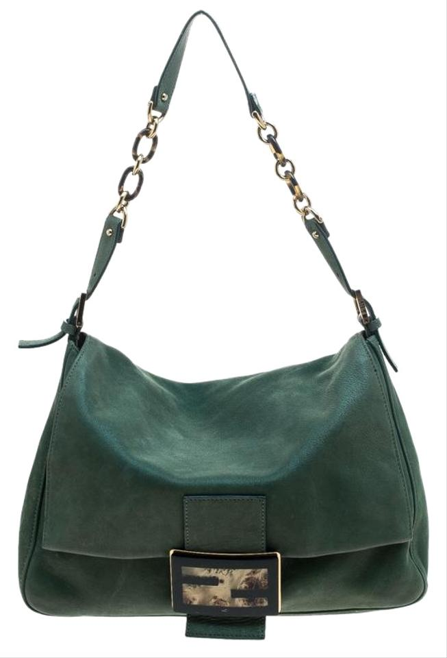 Fendi Shimmering Mama Forever Green Leather Shoulder Bag - Tradesy acb10e15a1dee