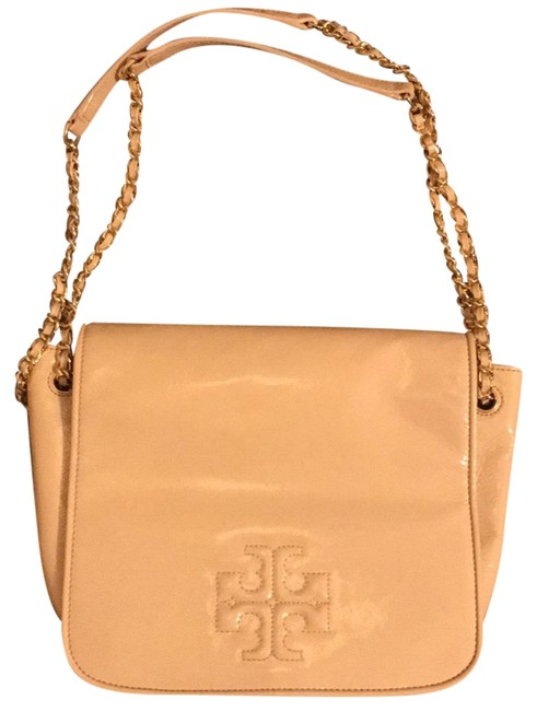 Item - Charlie Large Monogram In Front Tan Patent Leather Hobo Bag