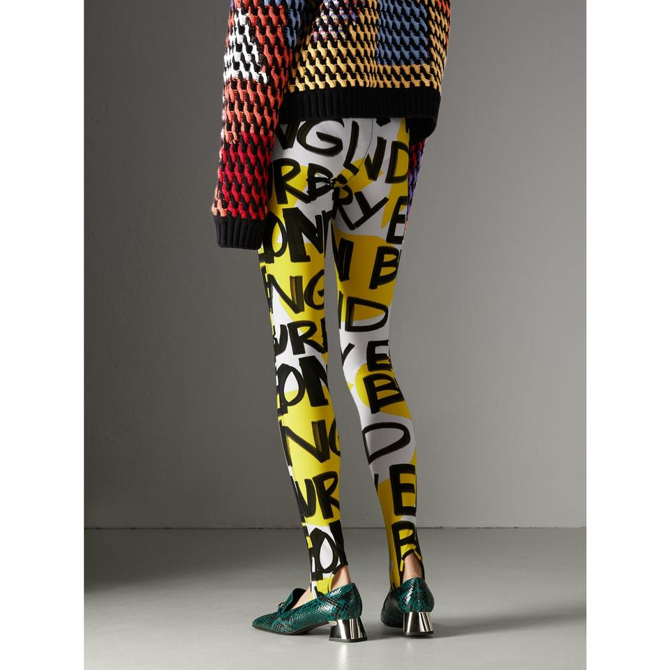 02faa0bdf0e5c6 Burberry Nova Check Plaid Monogram Tag Check Graffiti Multicolor Leggings  Image 11. 123456789101112