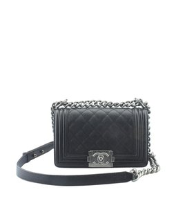 3990f91dbcfc98 Chanel Boy New Medium Black Calfskin Leather Shoulder Bag - Tradesy