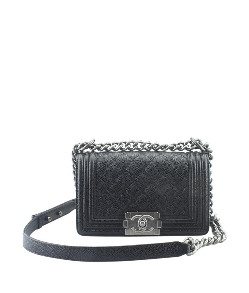 1e596454ed2c Chanel Boy Le Caviar Quilted (165339) Black Leather Cross Body Bag ...