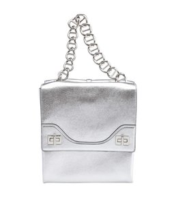 Prada Leather Dustbag Authcards Silver-tone Shoulder Bag