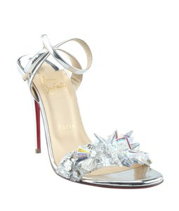 Christian Louboutin Leather Box Dustbag Silver Sandals