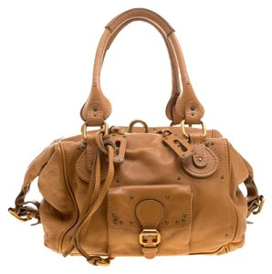 077c0003424e Chloé Paddington Camel Front Pocket Tan Leather Satchel - Tradesy