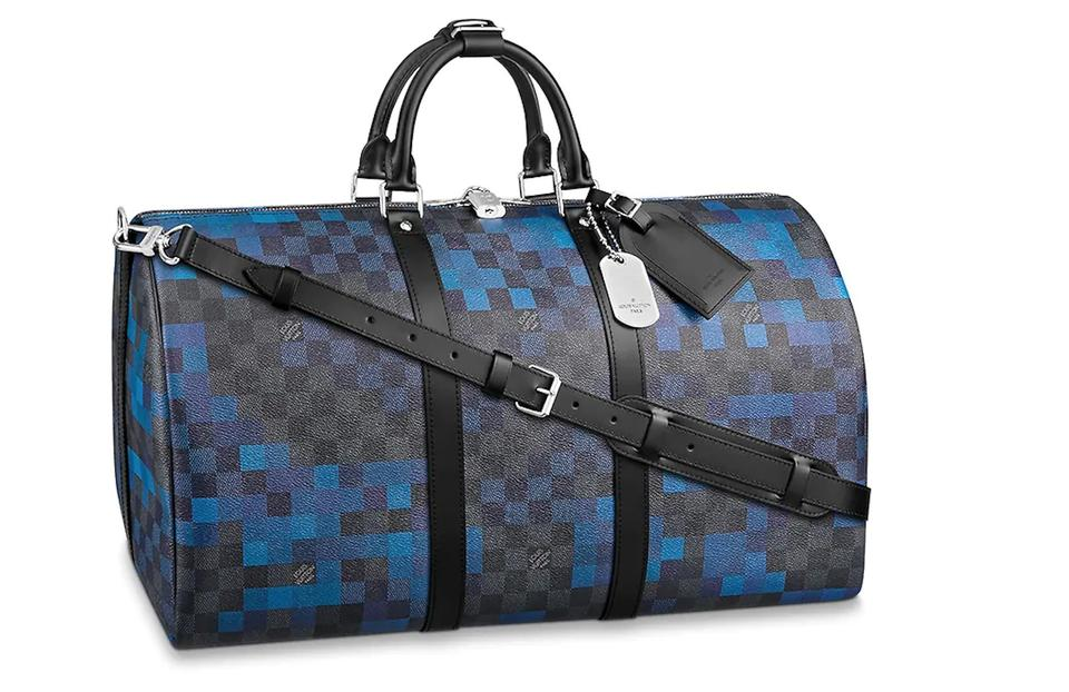 Louis Vuitton Keepall Damier Graphite Pixel Bandouliere 50 Sold Out ... 757331a96ef74