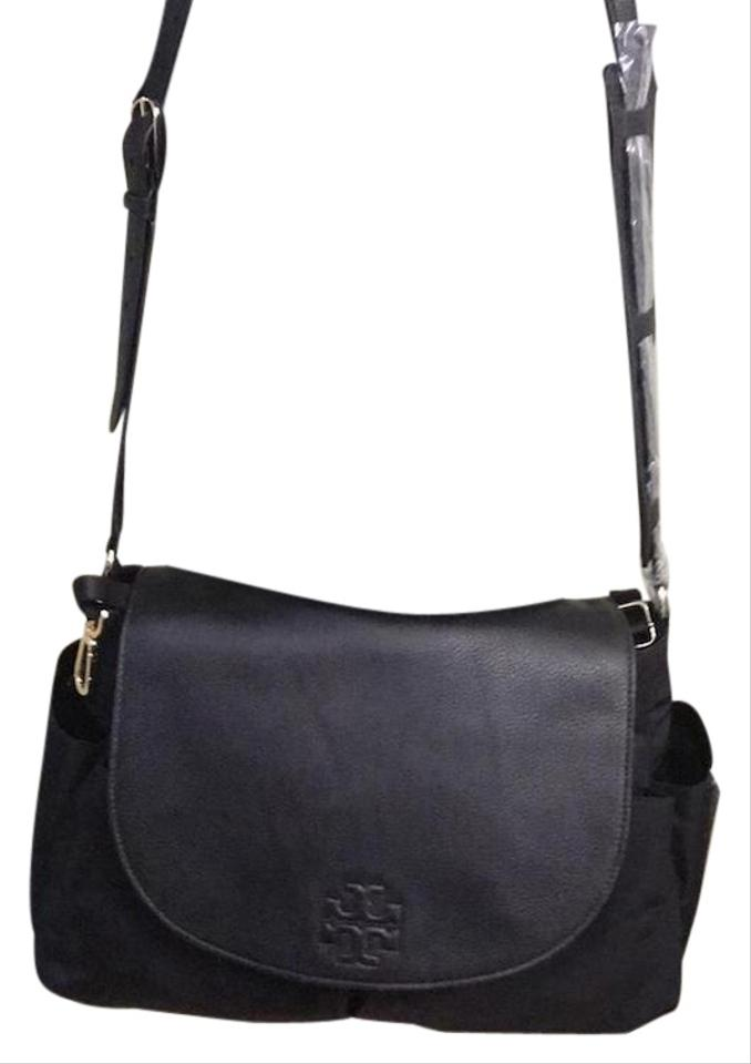 5d2c6fad9598 Tory Burch Thea New with Dustbag Travel Baby Black Nylon Shoulder ...