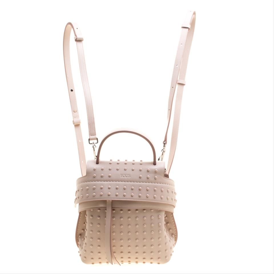 b3037dd69915 Tod s Blush Mini Wave Top Handle Pink Leather Backpack - Tradesy