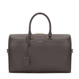 Saint Laurent Bandouliere Speedy Boston Keepall Duffle Gray Travel Bag