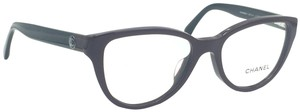 Chanel Cat Eye Burgundy and Black Eyeglasses 3315-A c.1237
