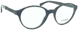 Chanel Round Grey Tweed Chain Eyeglasses 3319 c.1456