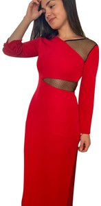Slate & Willow Cut Out Long Sleeve Gown Dress