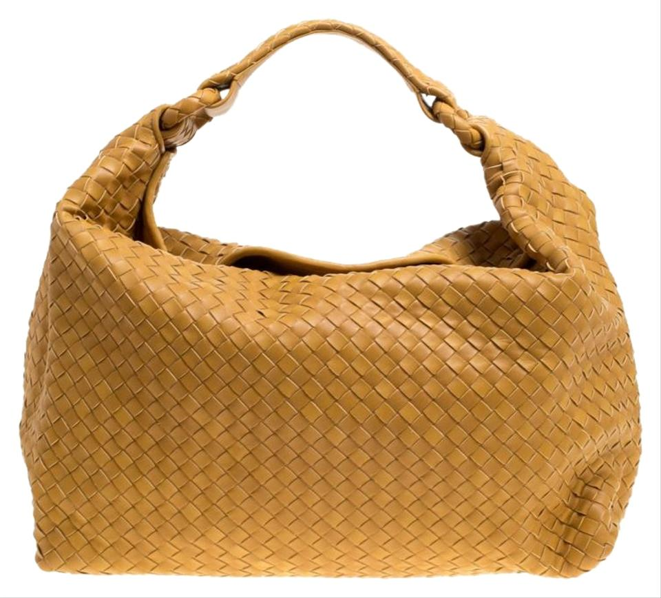 aa8c89c86893 Bottega Veneta Intrecciato Hobo Tan Leather and Suede Cross Body Bag ...