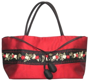 Macy's Silk Embroidered Floral Hobo Bag