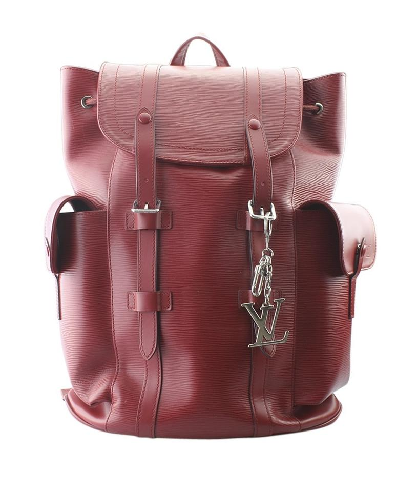 Louis Vuitton Louis Vuitton Christopher PM Red Epi Leather Backpack  (160862) ... d80b889f275db