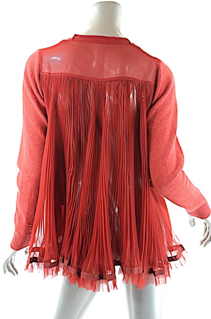 Preload https://img-static.tradesy.com/item/24742167/red-sweater-wpleated-back-cardigan-size-8-m-0-1-650-650.jpg