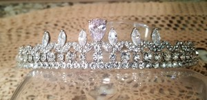 Silver Luxury Cubic Zirconia Plated T-022 Tiara