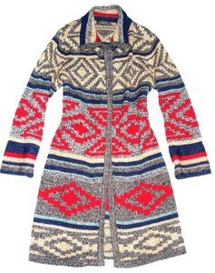724d7bd9c40 Spense Nordic Fair Isle Sweater Coat Open Front Knitted Cardigan