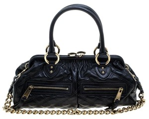 Marc Jacobs Leather Quilted Satchel in Black