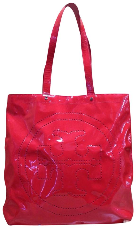 9be72e5a8ca58 Tory Burch Oversize Mirrored Cherry Leather Hobo Bag - Tradesy