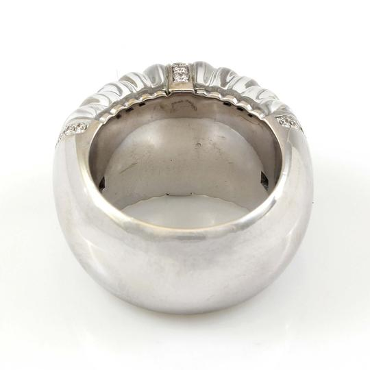 Other 18k White Gold Carved Rock Crystal and Diamond Ring by Vhernier #18300 Image 4