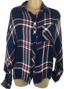 Rails Button Down Shirt Blue