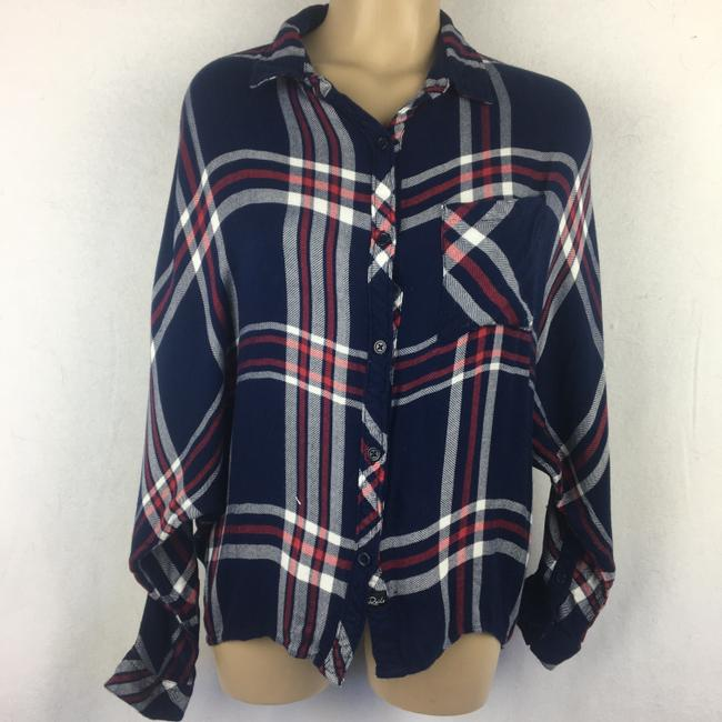 Rails Button Down Shirt Blue Image 6