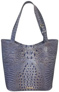 Brahmin Brayden Tote Statement Washed Indigo Shoulder Bag