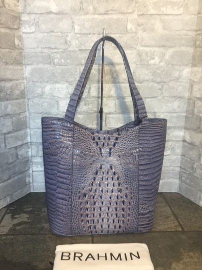 Brahmin Brayden Tote Statement Washed Indigo Shoulder Bag Image 1