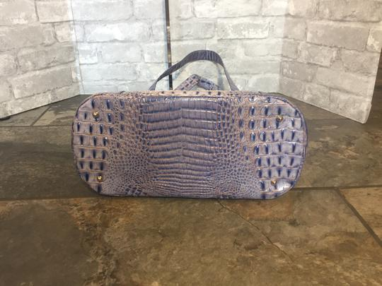 Brahmin Brayden Tote Statement Washed Indigo Shoulder Bag Image 3