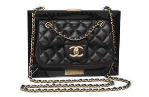 Chanel Gold Hardware Runway Clutch Limited Edition Cross Body Bag
