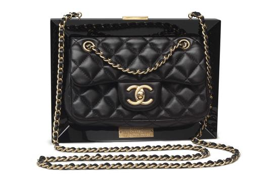 Chanel Gold Hardware Runway Clutch Limited Edition Cross Body Bag Image 0