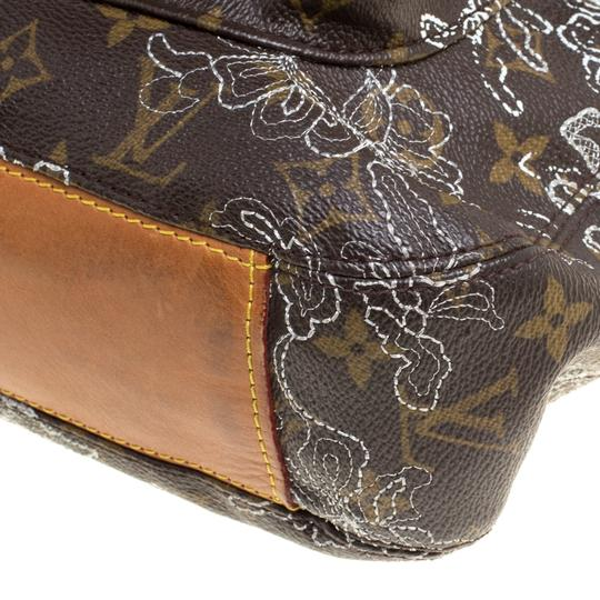 Louis Vuitton Coated Canvas Monogram Limited Edition Hobo Bag Image 7