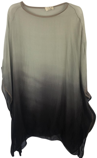Item - Gray Ombre Sheer Silk Tunic Size OS (one size)