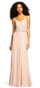 Adrianna Papell Beaded Embellished Popover Scalloped Dress