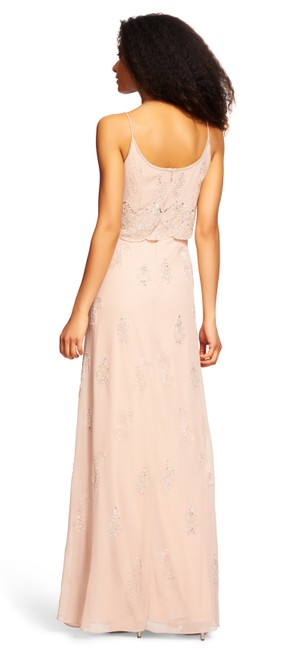 Adrianna Papell Beaded Embellished Popover Scalloped Dress Image 1