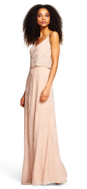 Adrianna Papell Beaded Embellished Popover Scalloped Dress Image 2