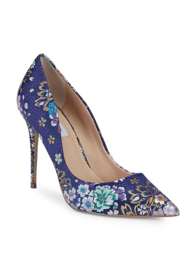057fc4cc1167 Steve Madden Floral Brocade Fabric Pointed Toe Stiletto Purple Pumps Image  9. 12345678910