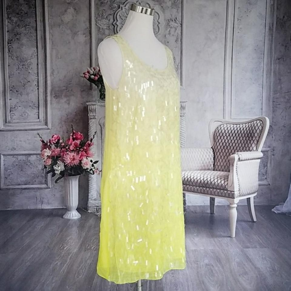 Erin Fetherston Limeaid Ombre D63 as13 320 Mid length Cocktail Dress Size 6 (S) 76% off retail
