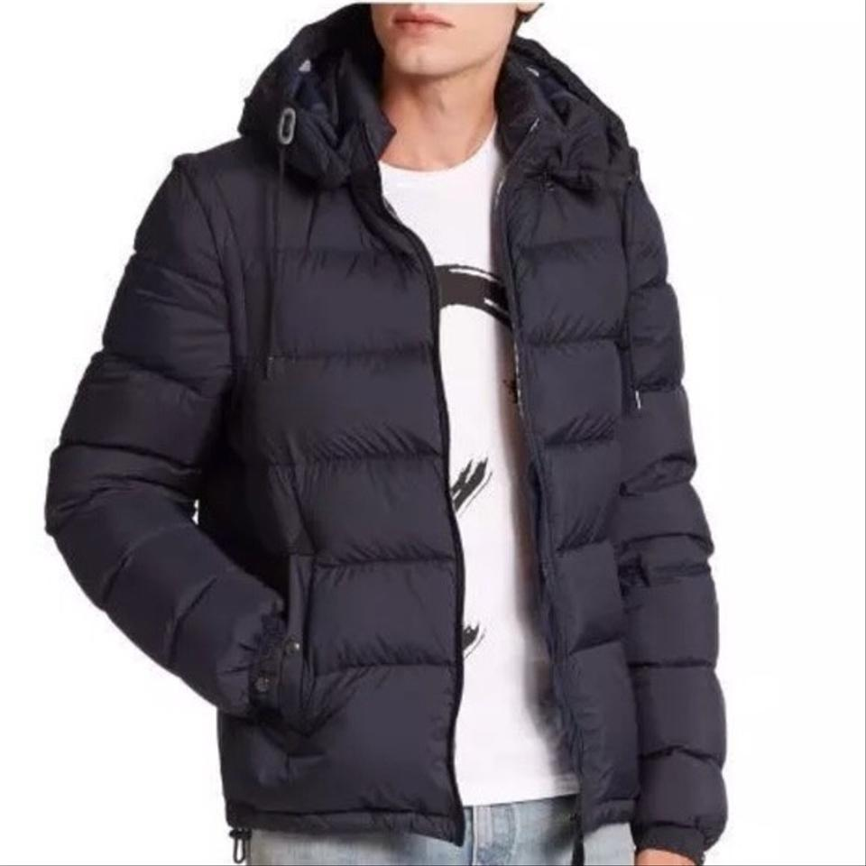 free delivery crazy price cheapest Burberry Dark Mineral Blue Men's Basford Quilted Padded Jacket ...
