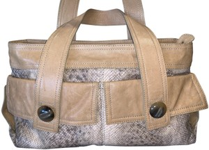 Kooba Snakeskin Tortoise Shell Leather Shoulder Bag