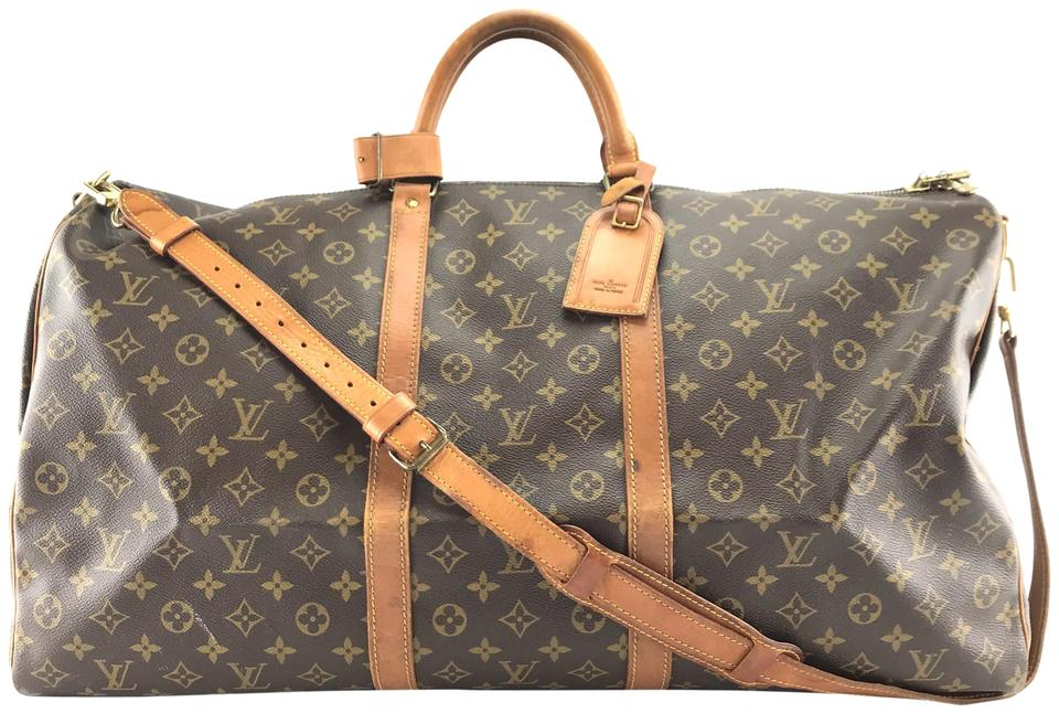 aa08ccbd7bd3 Louis Vuitton Keepall  26997 with Strap 60 Bandouliere Duffel Monogram  Coated Canvas Weekend Travel Bag