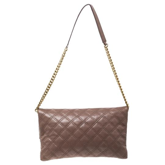 Marc Jacobs Leather Canvas Quilted Brown Clutch Image 1