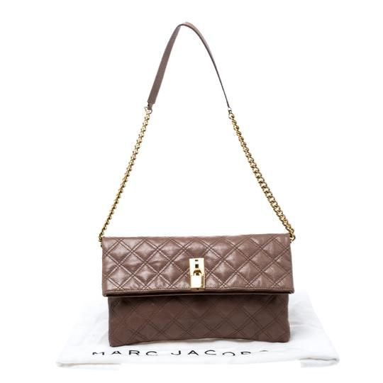Marc Jacobs Leather Canvas Quilted Brown Clutch Image 10