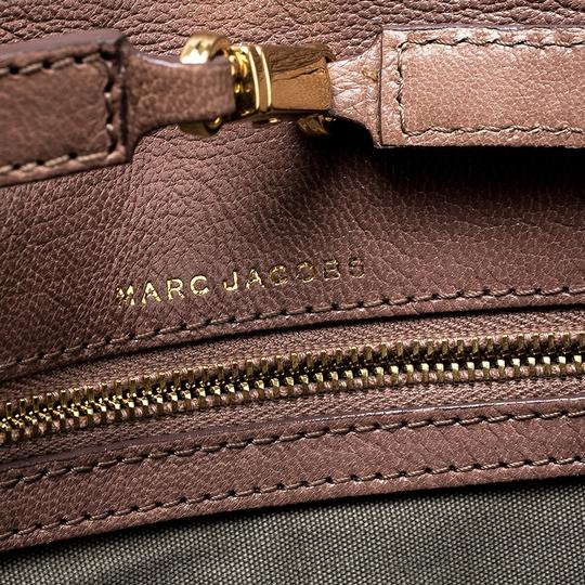 Marc Jacobs Leather Canvas Quilted Brown Clutch Image 8