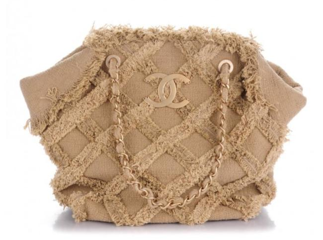 Chanel Organic Rope Woven Quilted Nature Beige Tweed Tote Chanel Organic Rope Woven Quilted Nature Beige Tweed Tote Image 1