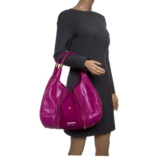 Jimmy Choo Leather Suede Perforated Hobo Bag Image 2