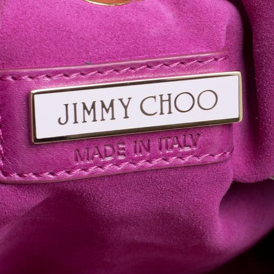 Jimmy Choo Leather Suede Perforated Hobo Bag Image 6
